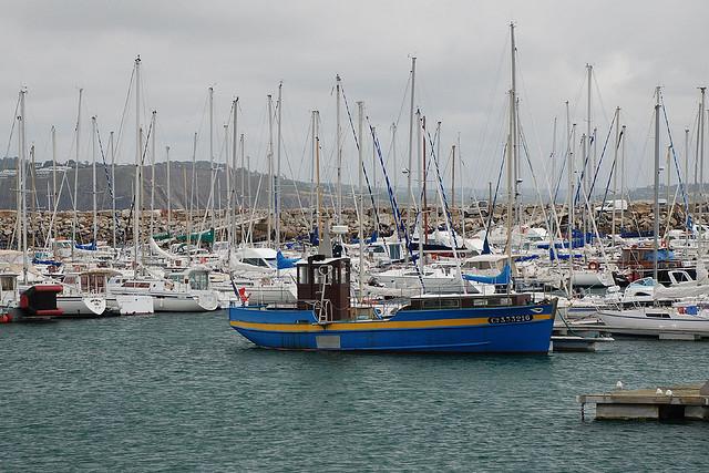 Bateaux dans le port de morgat